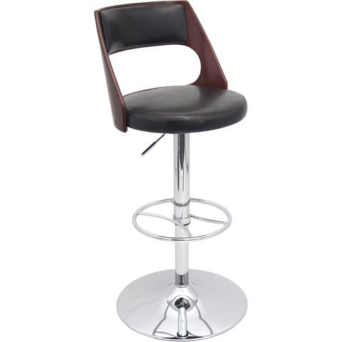 Presta Barstool, Cherry/Brown