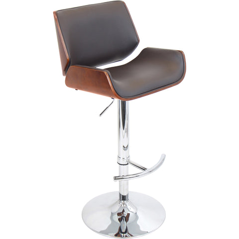 Santi Barstool, Cherry/Brown