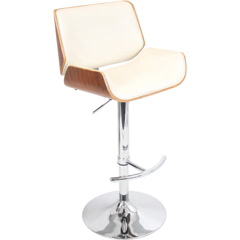 Santi Barstool, Walnut/Cream
