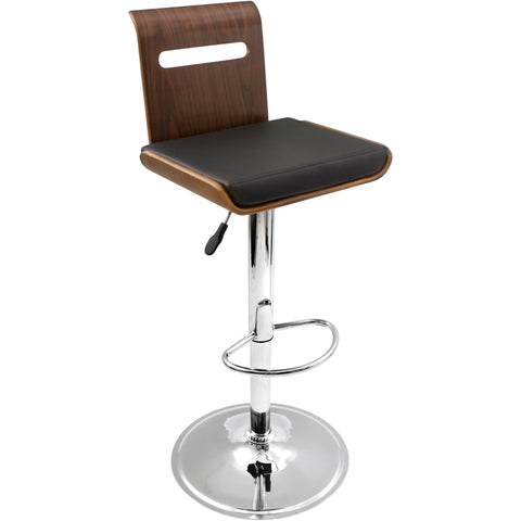 Viera Barstool, Walnut/Black