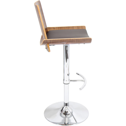 Vittorio Barstool, Walnut/Brown