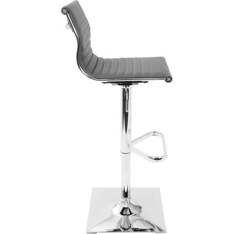 Master Contemporary Height Adjustable Barstool with Swivel, Grey