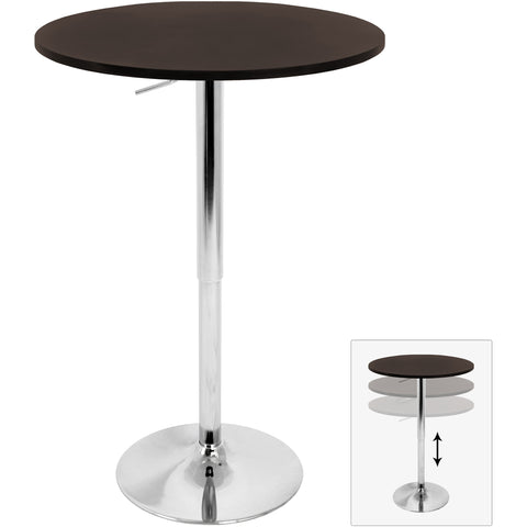 Adjustable Bar Table, Brown