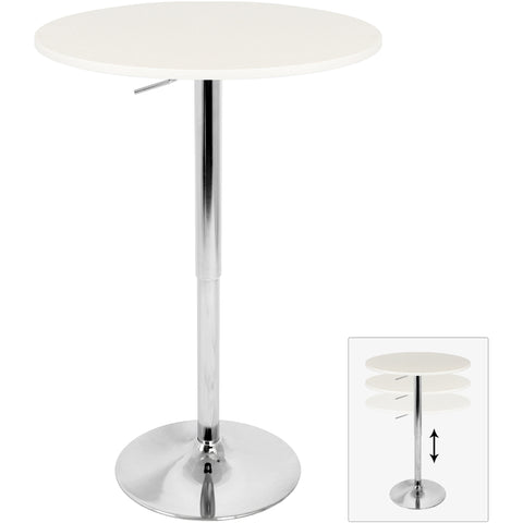 Adjustable Bar Table, White