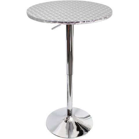 Bistro Bar Table Round, Silver Swirl