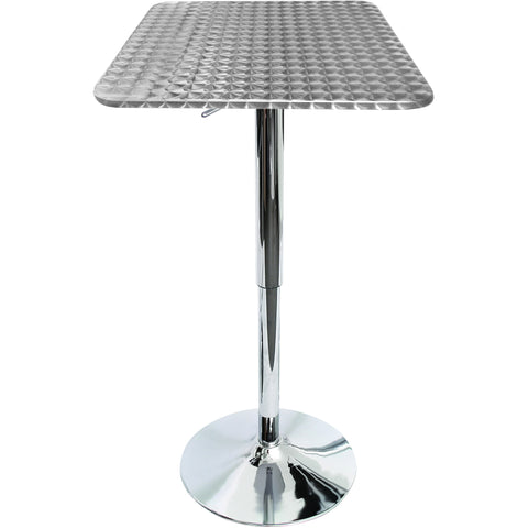 Bistro Bar Table Square, Silver Swirl
