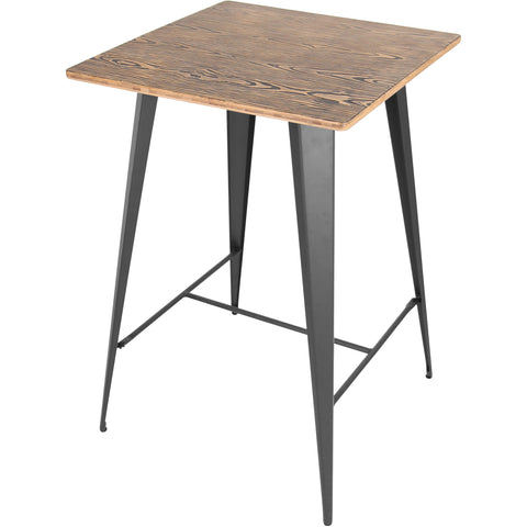 Oregon Pub Table, Medium Brown Top & Grey Finish
