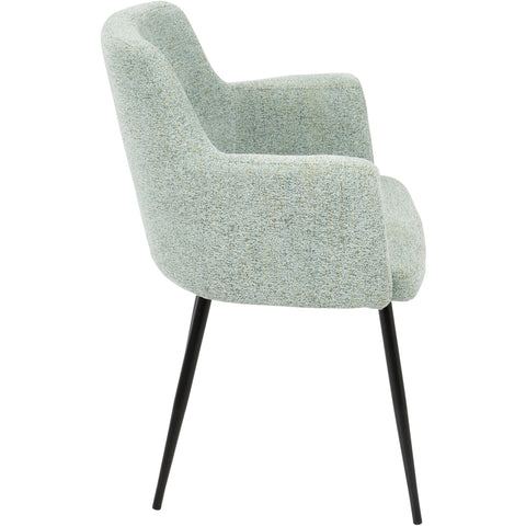 Andrew Contemporary Dining / Accent Chairs, Seafoam Green Fabric (Set of 2)