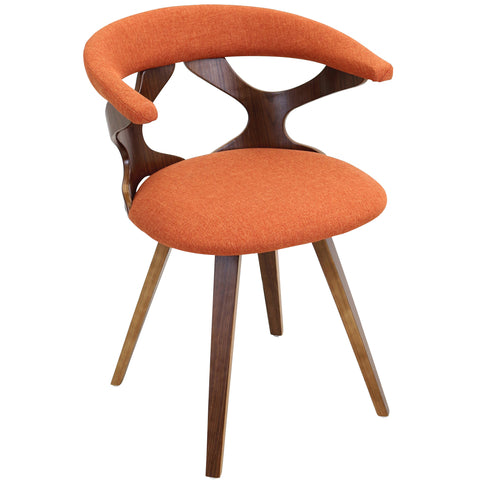 Gardenia Chair, Walnut/Orange