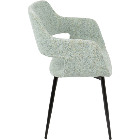Margarite Mid-Century Modern Dining / Accent Chairs, Light Green (Set of 2)