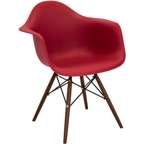 OSP Magnolia Chair with Dark Espresso Legs, Groovy Red Fabric