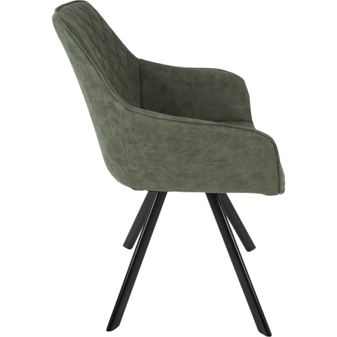 Outlaw Industrial Dining / Accent Chairs, Green PU (Set of 2)
