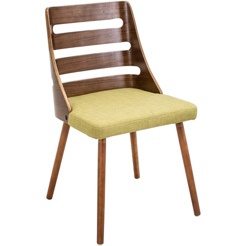 Trevi Chair, Walnut/Green