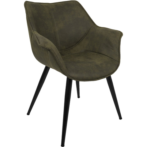Lillian Oval Back Chair with Brushed Frame, Klein Sea Fabric