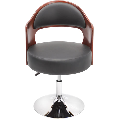 Galanti Chair (Set of 2), Walnut/Black