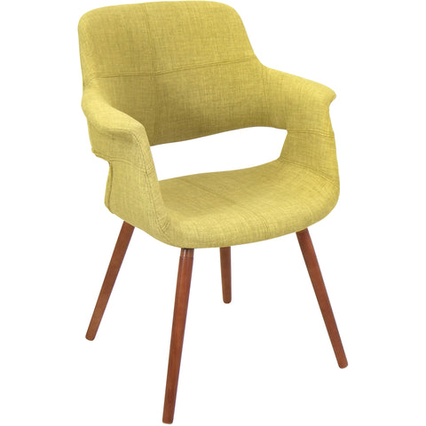 Rockwell Mid-Century Modern Noise Fabric Chair, Light Grey