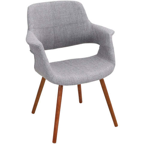 Amity Side Chair with Chrome Legs, Sizzle Pewter Fabric