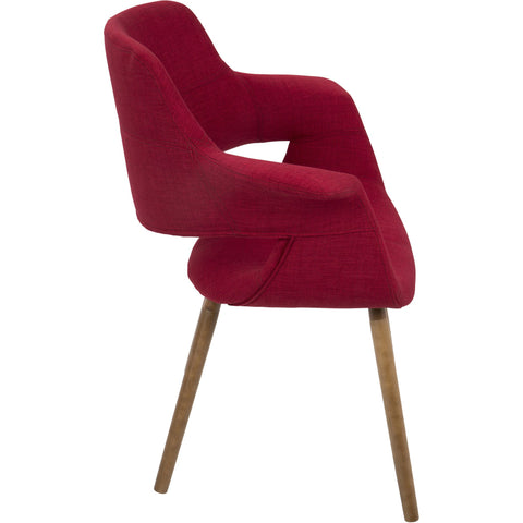 Vintage Flair Mid-Century Modern Dining / Accent Chair, Red