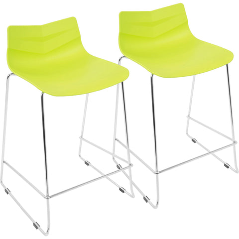 Arrow Contemporary Counter Stools, Lime Green (Set of 2)