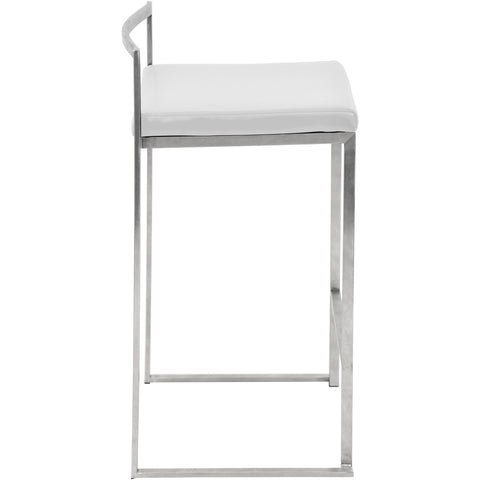 Fuji Stacker Counter Stool (Set of 2), White