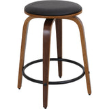 Porto Swivel Counter Stools (Set of 2), Walnut/Brown - etriggerz.com