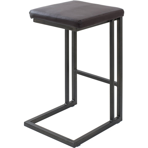 Roman Industrial Counter Stools, Espresso & Antique Frame (Set of 2)