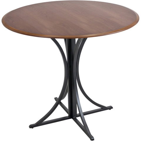 Boro Dining Table, Walnut/Black