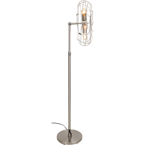 Ozzy Floor Lamp, Satin Nickel