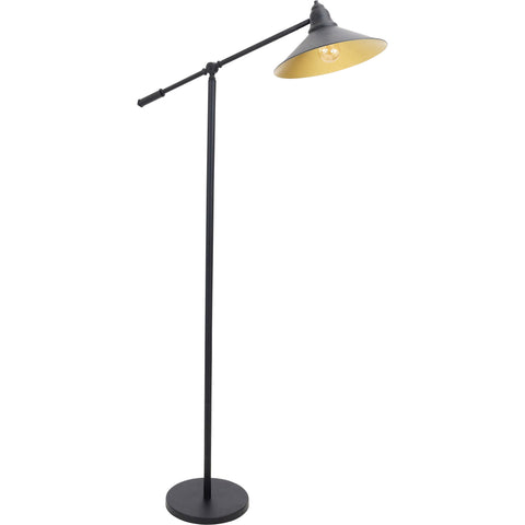Paddy Floor Lamp, Black/Gold