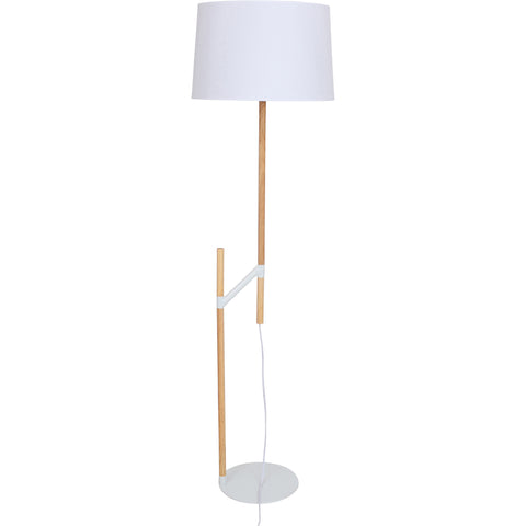 Raised Floor Lamp, Medium Brown/White