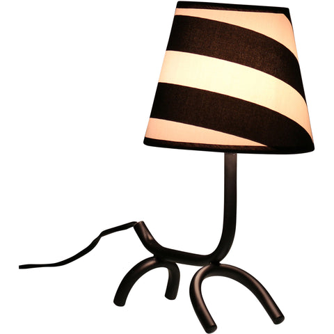 Woof Table Lamp, Black/White