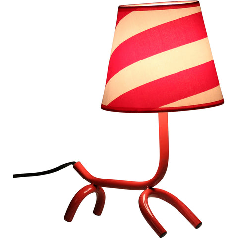 Woof Table Lamp, Red/White
