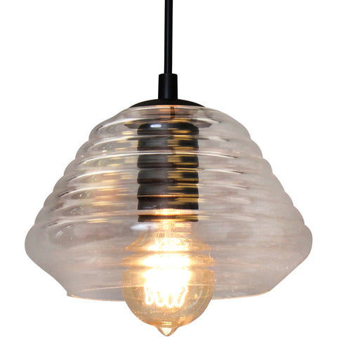 Torus-Triangle Pendant Lamp, Glass, Electrical