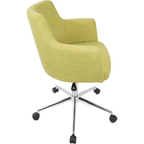 Andrew Contemporary Adjustable Office Chair, Citrus Green
