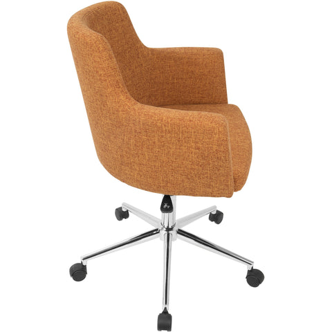 Andrew Contemporary Adjustable Office Chair, Orange