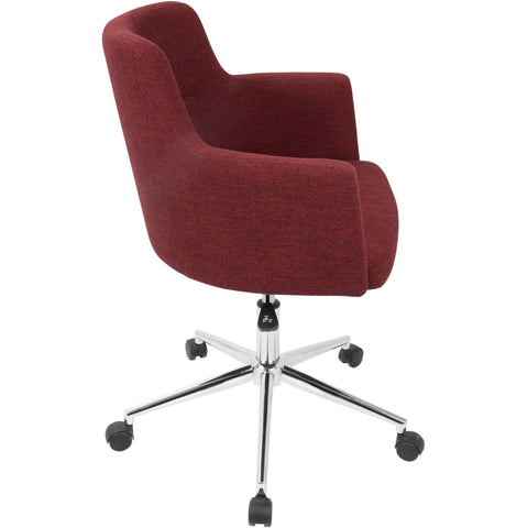 Andrew Contemporary Adjustable Office Chair, Red
