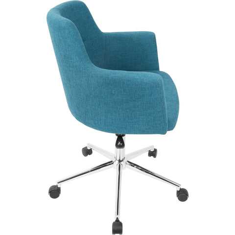 Andrew Contemporary Adjustable Office Chair, Teal