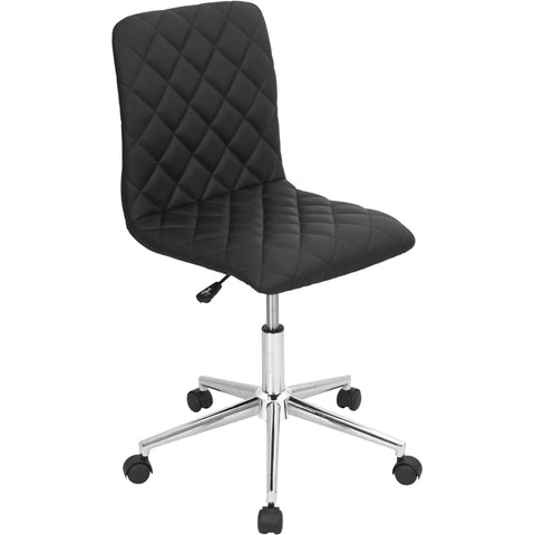 Caviar Height Adjustable Swivel Office Chair, Black