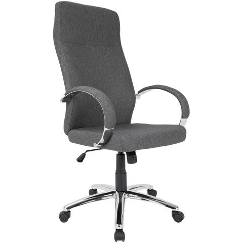 Ambassador Contemporary Office Chair, Grey Fabric
