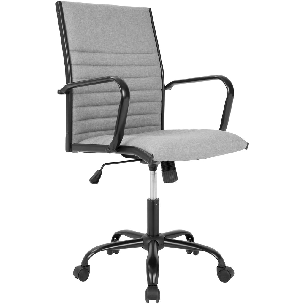Master Contemporary Fabric Office Chair, Black/Light Grey ...