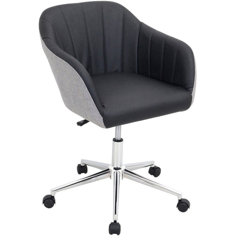 Shelton Modern Office Chair, Black/Grey