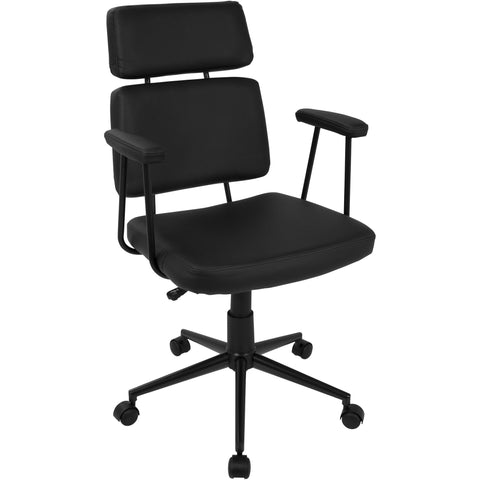 Sigmund Contemporary Adjustable Office Chair, Black