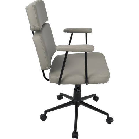 Sigmund Contemporary Adjustable Office Chair, Grey