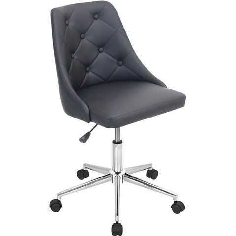 Marche Height Adjustable Swivel Office Chair, Black