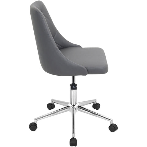 Marche Height Adjustable Swivel Office Chair, Grey