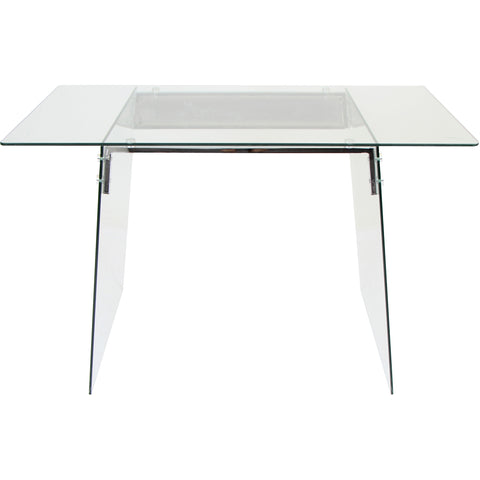 Glacier Desk, Clear/Chrome