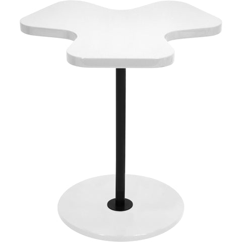 Clover Side Table, White