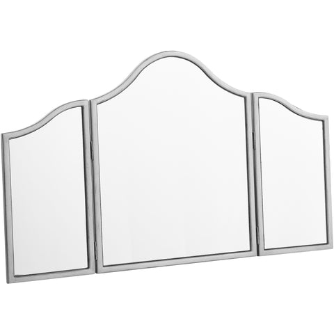 "Chamberlan 39""x24"" Trifold Standing Mirror, Silver"