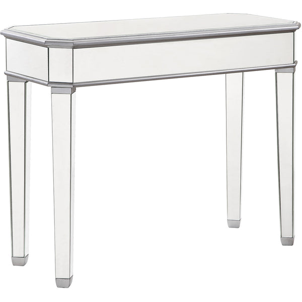 Chamberlan 41 X17 X33 Rectangle Mirrored Console Table Silver