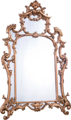 "Antique 28.75""x48""x2"" Wall Mirror, Antique Gold Leaf Finish"
